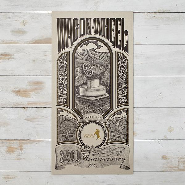 Wagon Wheel Commemorative Poster
