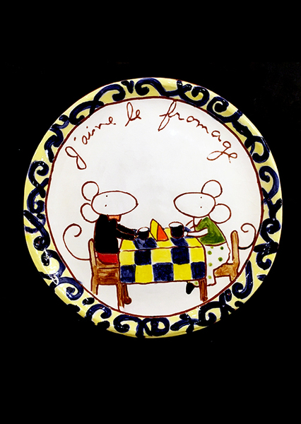 Cheese Serving Plate (no. 159)