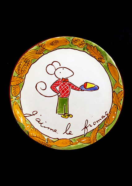 Cheese Serving Plate (no. 161)